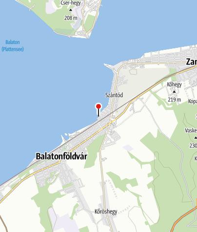 Karte / Juhász Gyula utcai (Beach Party) szabadstrand, Szántód