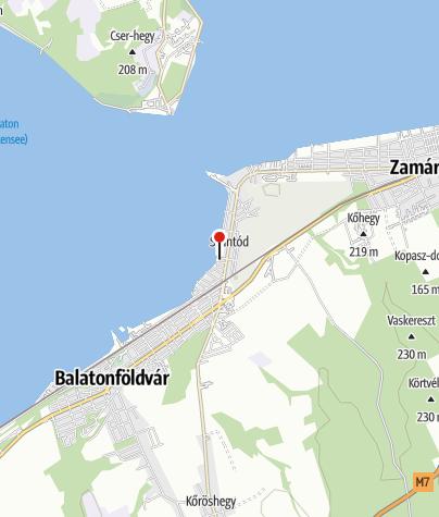 Térkép / Rigó utcai szabadstrand, Szántód