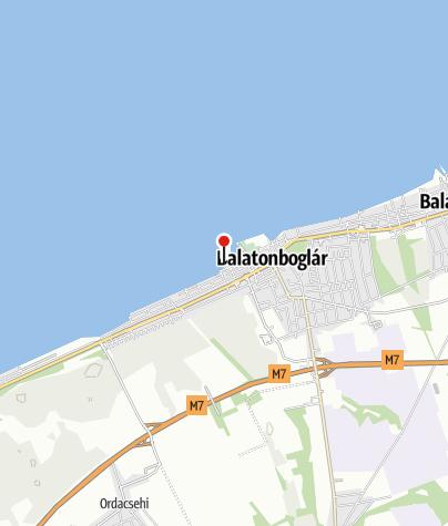 Mapa / Sziget szabadstrand, Balatonboglár