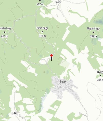 Map / Bujáki várrom