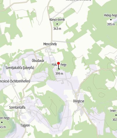 Map / Kossuth-kilátó és Vulkán tanösvény, Mencshely