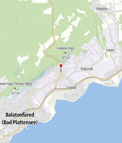 Mapa / Csopaki Csonkatorony