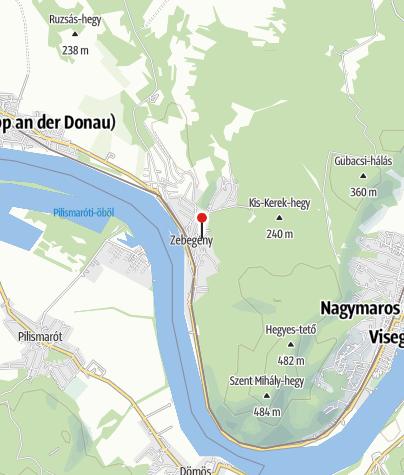 Map / Országzászló és trianoni emlékmű, Zebegény