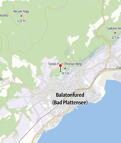 Mapa / Jókai-kilátó, Balatonfüred