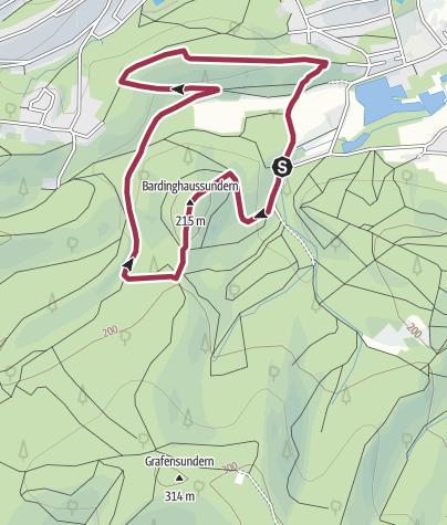 Karte / TERRA.track: Varusturm & Mathildenruh