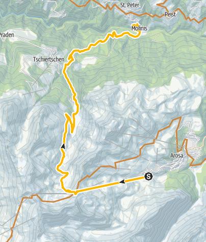 Kaart / Enduro: Arosa - Hörnli - Molinis