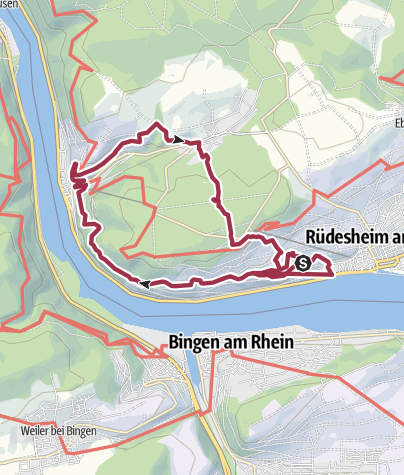 Kaart / Große Rüdesheimer Runde