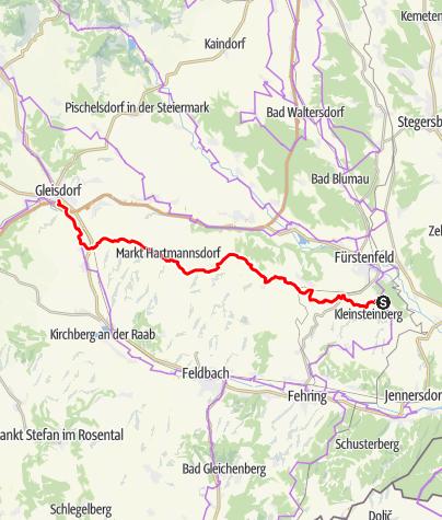 Karte / Weinland Steiermark Radtour Variante Oststeiermark