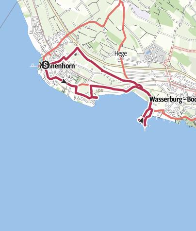 Karte / Rundweg zur Halbinsel Wasserburg