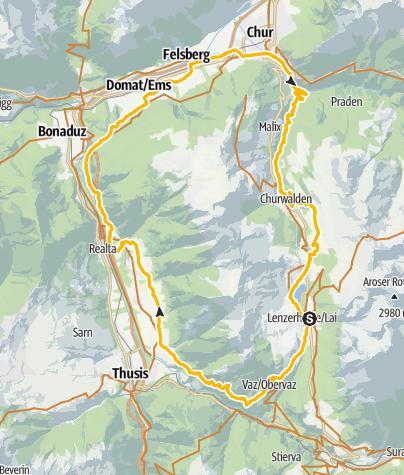 Karte / GPS Alter Schyn-Runde