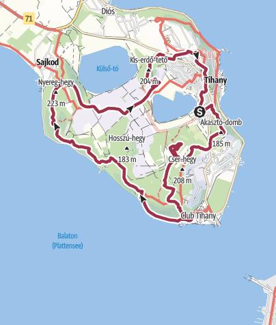 Térkép / Téli Tihany 15 km