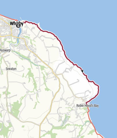 Map / Whitby to Robin Hood's Bay