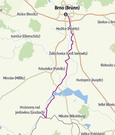 Mapa / Jantarovou stezkou z Brna do Nového Přerova