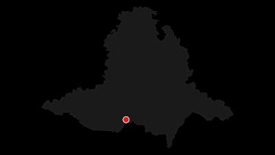 Mapa / Vinná stezka Mikulovskem - slunnou Itálií pod Pavlovskými vrchy
