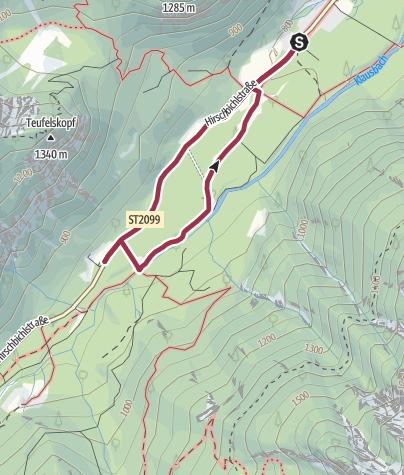 Karte / Wanderung zur Wildfütterung im Klausbachtal