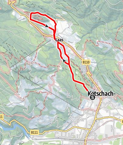 Karte / Einsiedelwald und Ruine Pittersberg