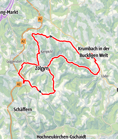 Map / Grenzlandroute - E-Bike