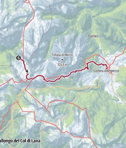 Map / Rifugio Scotoni to Cortina