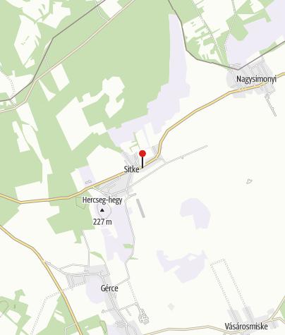 Mapa / Borostyánkert Étterem és Vendégház