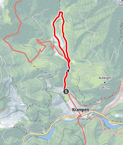 Karte / Tirolrundwanderweg im Naturpark Mürzer Oberland