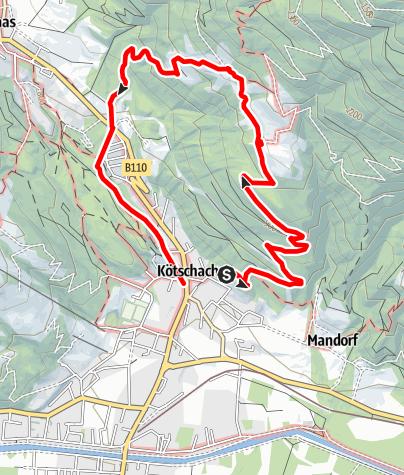 Karte / Rundwanderweg Dobra - Lanz