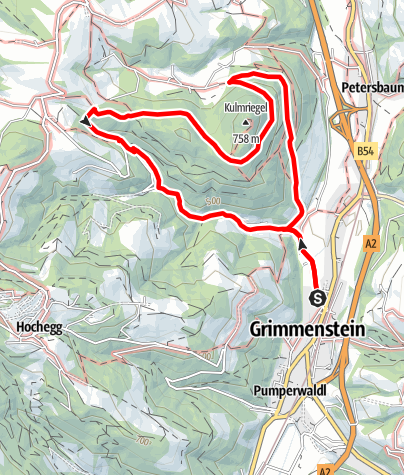Map / Burgweg Grimmenstein