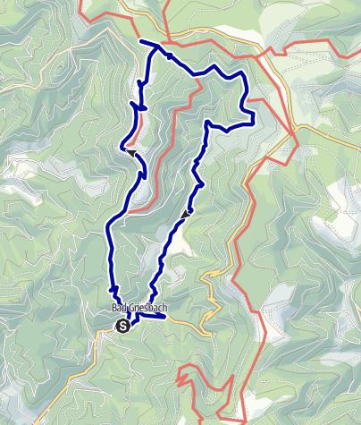 Karte / Wandern auf Bergeshöhen