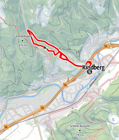 "Karte /  ""Naturlehrpfad"" (Wanderweg Kindberg 3)"
