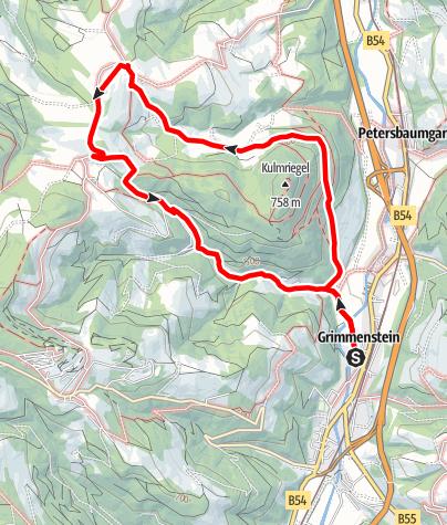 Karte / Kulmriegelrunde Grimmenstein