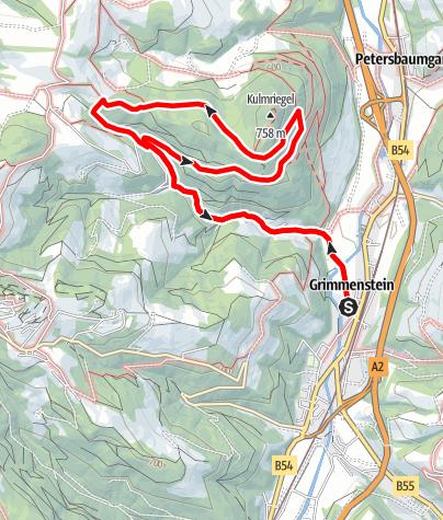 Map / Grimmensteiner Hubertusweg