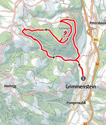 Karte / Grimmensteiner Weg zur Kulmriegelspitze