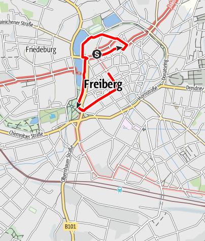 Karte / Freiberger Brunnengeschichte(n)
