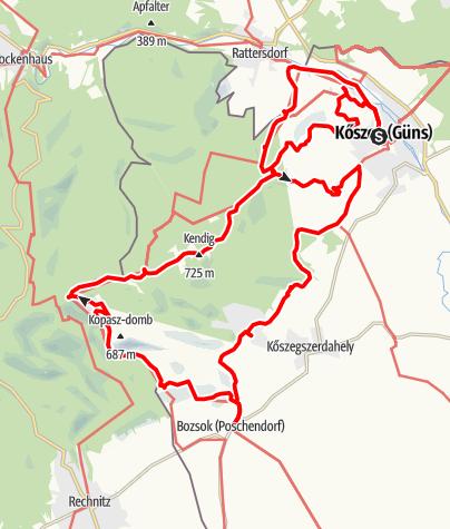 Mapa / Kubát Hugó emléktúrák - 42 TT