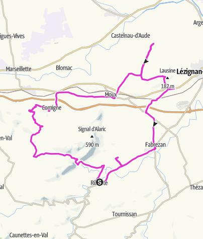 Carte / La route de l'Alaric (Est) : les vins frais