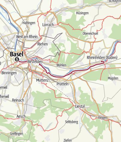 Map / ViaRhenana: von Basel nach Rheinfelden