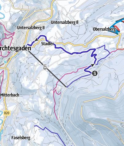 Karte / Rodelbahn Obersalzberg Berchtesgaden