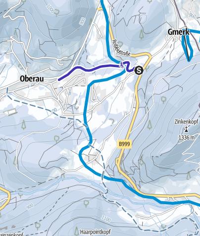 Karte / Rodelbahn Oberau bei Berchtesgaden