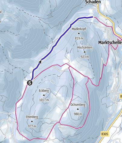 Karte / Rodelbahn Marktschellenberg