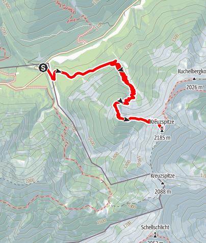 Karte / Bergtour - Kreuzspitze