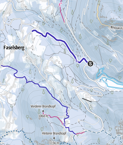 Karte / Rodelbahn Spinnerwinklweg Schönau am Königssee