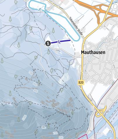 Karte / Rodelwiese Schlosshang Piding