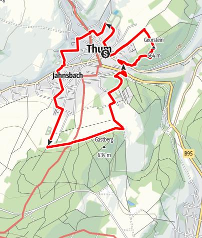 Karte / Ringweg Thum