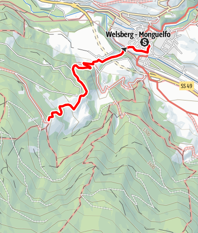 Map / Hiking tour to the Walde Alm (1405m)