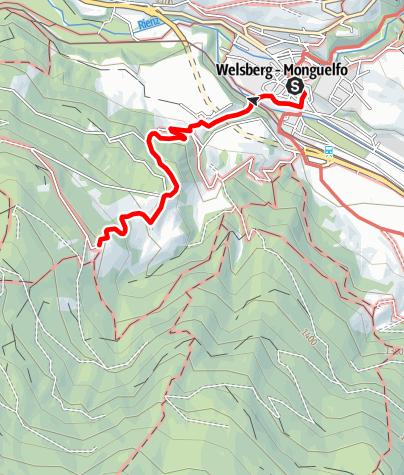 Cartina / Escursione alla Walde Alm (1405m)