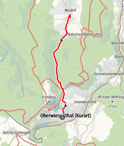Karte / Wanderung ins Suppenland