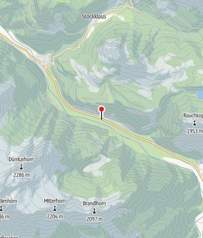 Karte / Einstiegsstelle Klettergarten - Weißbach