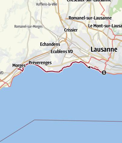 Map / Von Lausanne nach Morges