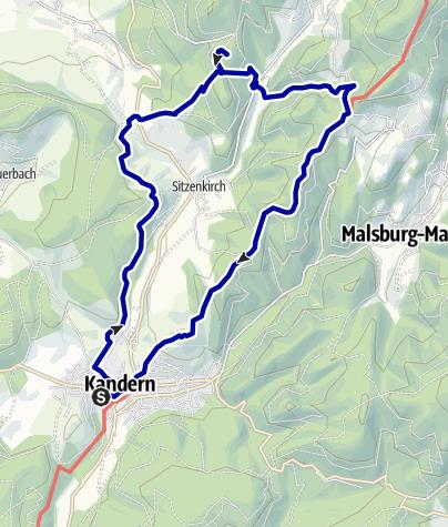 Karte / Die Kandern - Schloß Bürgeln Runde