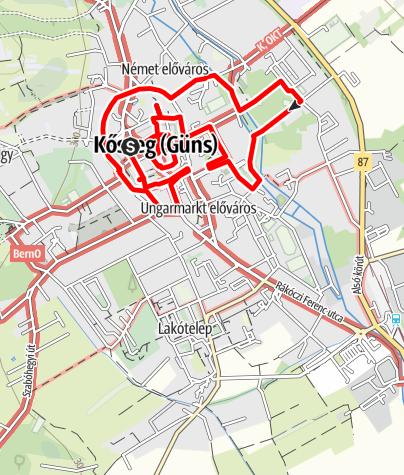 Térkép / Kőszegi városi séta 5