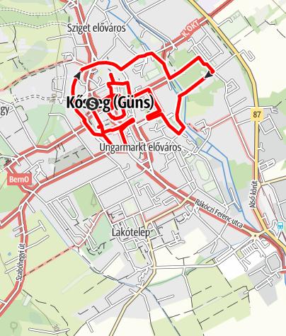 Mapa / Kőszegi városi séta 5